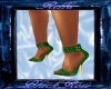 R&R Ms Pam Heels Green