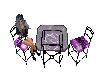 Purple dinette table