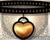 *MD*Gold Heart Choker