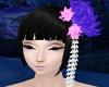 Purple Lotus Hair Flower