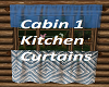 Cabin 1 Kitchen Curtains