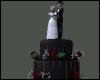 +Dark Wedding TableCake+