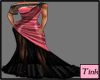 Pink Black Gown