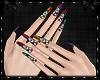 Rainbow Diamons Nails v2