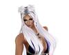 white pin up hair
