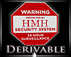 H. Security System Sign