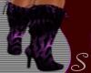 *S* Tiger Strip Purple