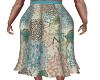 Para Blue Print Skirt