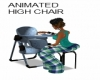 ANIMATED HIGH CHAIR-BLUE