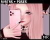 金. Pink Cellphone