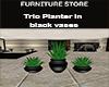 Trio Planter /w Bl Vase
