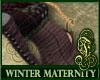 Winter Maternity Purple