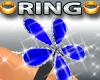 Diamond Blue Flower Ring