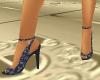 ~CA~NavyBlueFloral Heels