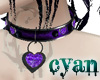 *c* Amethyst Heart Colla