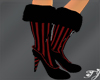 Candy Red Stripe Boots
