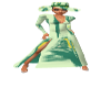 PD Green Paint Gown