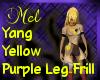 leg Frill purple -Yang