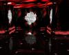 (N) black red rose
