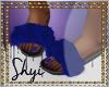 $ BLue Fur Slides