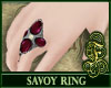 Savoy Ring Burgundy