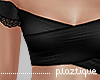 #P- Bardot CropTop Black