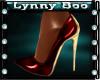 !Rix Red Gold Heels