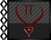 Josh Red Heart Necklace