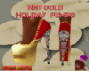 DM:RED GOLD HOLIDAY PUMP