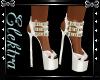 Sexy White Strap Heels
