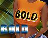 Bold Sleeveless Org Tank