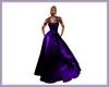 robe longue mauve fleur