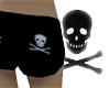 Skull Shorts (Black)