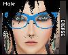 :C: Blue Nerd Glasses M