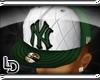 [LD]Grn/Wht plaid NY hat