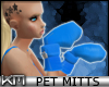 +KM+ Pet Mitts Blue F