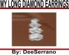 MY LONG DIAMOND EARRINGS
