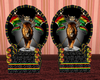King Queen Rasta Throne