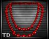 TD l Retro Red  Pearls