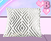 *B Metallic Pillow