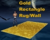 Gold Rectangle Rug/Wall