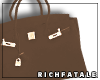 RF | Leather Tote-Camel