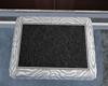 :3 Black Silver Doormat