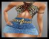 {LA} Jean Skirt outfit L