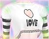 """爱 """"Love"""" White Top"""