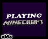 Playing Minecraft Sign