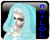 winter hood teal fur
