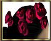 Wine Red Hair Flowers