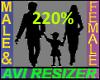 220% Tall