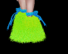 Neon Blue n Green M Boot